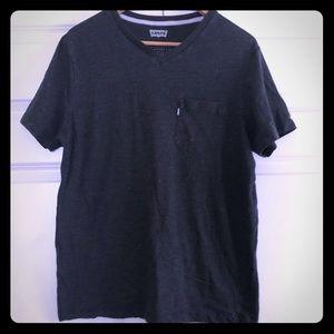 Levi's charcoal gray v-neck t-shirt, L